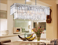 Cheap Highly recommend lights ,lustre crystal chandelier light for dining room ,modern design square bar crystal lamps