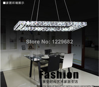 Modern 85-265V LED Square modern Lustre crystal chandelier lights for dining room kitchen lighting restaurant decorative led lamps