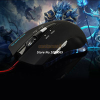 Stock SV004508# Desktop,Laptop Best Price !2400DPI Wired Blue LED Mouse Computer Gaming Game Mice Mouse Optical 6 Buttons for Laptop PC b7 SV004508