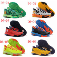 Wholesale Cheap Kevin Durant Basketball Shoes Air KD VI Sports Shoes Mens Sneakers High Quality Athletics Shoes Hot Sale Ball Boots Running Cleats