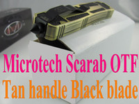 Wholesale Microtech Navy Scarab Tan OTF Marfione Custom Scarab OTF Black blade different blade style can be choose tactical knife knives