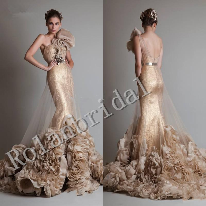 Gold dress zuhair murad zuhair