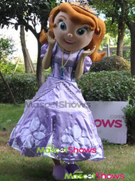 Wholesale Hot sale new design adult mascot costume princess sofia adult sofia the first mascot cartoon costumes fancy dress halloween