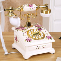Wholesale Fashion antique telephone ceramic vintage rustic fashion home telephone
