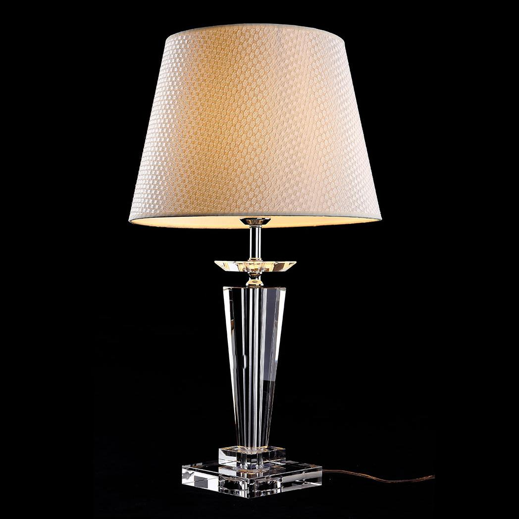 morden european crystal bedroom bedside table lamps art beige fabrics