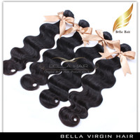 Wholesale Grade A Peruvian Virgin Hair Extensions Body Wave Wavy Natural Color Mix length Hair Weaves Weft inch