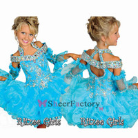 Reference Images Toddler Beads 2014 Beaded Halter off shoulder Tutu Girl's Pageant Dresses Tiers Organza Off Shoulder Backless Mini Girl Dress Toddler Princess Gowns B526