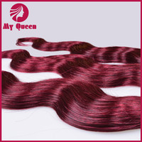 Brazilian Hair Body Wave Under $10 2014 New Arrival Brazilian Ombre Hair Colorful Hair Extensions Body Wave Color#99J Mixed 3 Bundles Lots Free Shipping No Shedding No Tangles