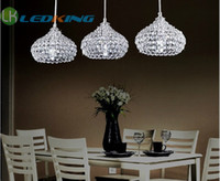 Modern chandeliers - Crystal Light Pendant LED Lamps Luxury Modern Chandeliers head for one set with E14 led candle bulbs Chandelier