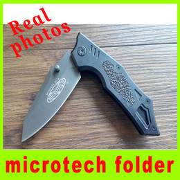 Wholesale Real pictures Outdoor gear Microtech Fast open Quick Folding utility pocket knife SF M camping Tactical Knife Christmas gift H