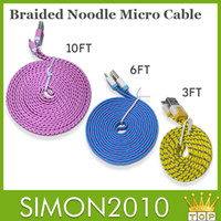 Cheap noodle cable Best braided noodle cable