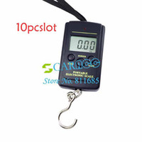 <50g 40kg  New 10pcs lot Powerful 40kg x 20g Portable Mini Electronic Digital Scales Hanging Fishing Hook Pocket Weighing Scale 214