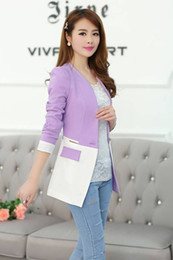 Wholesale Spring Korean all match cultivating small suit in the long section of thin hit color small jacket