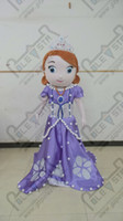 Cheap POLE STAR MASCOT COSTUMES the most popular sofia mascot costume purple dress princess costumes