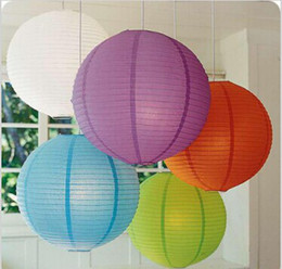 """New Arrival 12""""(30cm)Chinese Paper Lanterns With LED Lights Multi Color Christmas Ornaments Lantern For Wedding Party Decoration Supplies"""