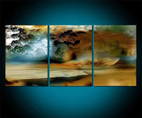 Abstract abstract canvas Discount 3 Piece Canvas Thunderstorm Modern Abstract Large Cheap Wall Art Of Painting For Sale Oil Prints For Home Decoration