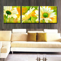 Abstract flower abstract hand made 3 panel canvas art modern abstract oil painting,home decoration pictures on the wall