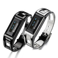 Wholesale Smart Watch Bluetooth Bracelet Wrist Smartband w Caller s ID OLED Vibrating Alert Anti Loss Calling for iPhone Samsung LG HTC Android Phone