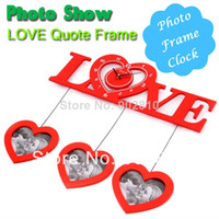 Cheap [listed in stock]-64x60cm(26x24in) Picture Frame Wall Photo Love Quotes Silent Wall Clock Decoration Interior Home (wc1038)