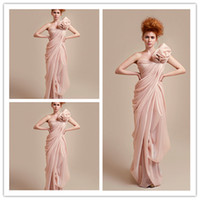 Cheap Reference Images Evening Dresses Best One-Shoulder Chiffon Sleeveless Prom Gowns