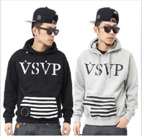 Pullover belt usa - New VSVP ASAP Rocky Comme Des Fuckdown Charcoa usa men hiphop Hooded pullover sweater hoodies sweatshirts