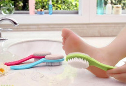 Wholesale double sided natural exfoliating foot rub brush foot stone grinding brush