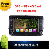 Wholesale Sales Capacitive Screen Pure Android PC Car DVD for Volkswagen Android Car DVD GPS Player G Wifi