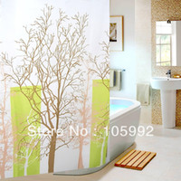 Wholesale Beautiful Shower Curtains Tree Branch Pattern Polyester Fabric Bath Thickening waterproof terylene shower curtain cm
