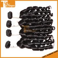 Wholesale High Quality Hot Selling A Funmi Curl Human Hair Weight g Full Hair Bundles Unprocessed European Virgin Hair Extension Natural Black