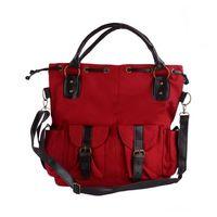 Women big green purse - Big Size Canvas Fashion Purse Handbag Messenger Satchel Shoulder Bag S023