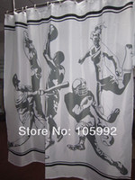 White,Black baseball curtains - American baseball boy shower curtain cm cm new style