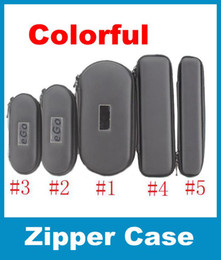 Large Medium small 5 Size EGo Zipper Leather Case Pouch W  Mesh Pockets For Electronic Cigarett E-Cig Ego Vapor Pen Case Multi-colors FJ003