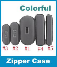 Large Medium small 5 Size EGo Zipper Leather Case Pouch W  Mesh Pockets For Electronic Cigarett E-Cig Ego Vapor Pen Case Colorful FJ003