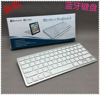 Wholesale 2 Ghz Slim Keys wireless bluetooth keyboard For iPad iPhone Windows Tablet PC Mac Air Apple