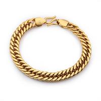 Wholesale Aliexpress sale chain bracelet fashion bracelets bangles men k gold plated bijoux charm bracelete BR24K