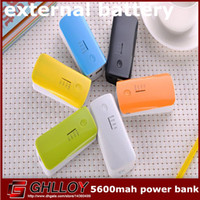 Power Bank Universal  5600 mah Portable Backup Battery External Power Bank Charger For Universal Mobile Phones,with retail package 180PCS\LOT (60+60+60) free ship
