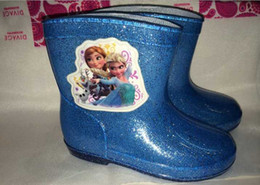 Wholesale New Arrival Frozen Rainshoes Baby Gril Boy Rain Galoshes Rain Boot Waterproof Showes pairs