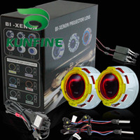 HID Conversion Kit 6000K All Car Cheap Shipping G3 Bi-Xenon HID +Projector Lens Kit +Double Angle Eyes +Bulbs+14months warranty