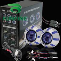 HID Conversion Kit 6000K All Car G3 Bi-Xenon HID Projector Lens Hi Lo High Low Bi Xenon Kit +Double Angle Eyes +Bulbs+14months warranty KF-K9015