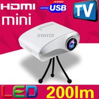 Wholesale Professional Tripod Cute Speaker lumens Portable Video Pico Micro LCD Handy LED Mini Projector HDMI USB AV VGA TV Tuner