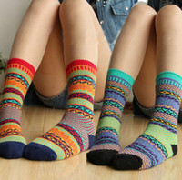 2014 Fashion Indian Wind Socks Colorful Women Ankle Socks La...