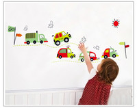 Removable art design toys - Cute Toy Car Cartoon Wall Sticker Decals For Baby Room Decor