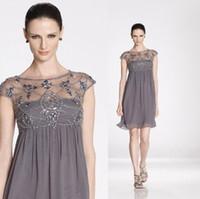 Wholesale Gray Knee Length Mother Bride Dresses - Buy Cheap Gray ...