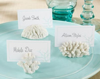 beach theme place cards - 2014 new arrive Seas Coral Beach Theme Place Card Holders Wedding Favors