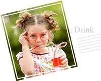 Óculos de palha bebendo engraçado transporte livre quadros lindo DIY louco palha óculos para festa favorecem 3000pcs/lot