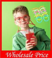 500pcs / lot itens Novidade surpreendentes parvos multi-cores vidros engraçados Palhinha óculos Frames para o partido favor Wholesale