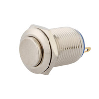 Cheap 12mm 12V Momentary Push Button Metal Switch for Car DIY Silver