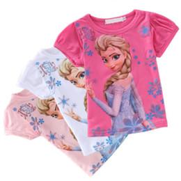 Wholesale Details about Baby Girl Kids Frozen Queen Elsa Snowman ShortSleeve T Shirt Tops Clothes Color