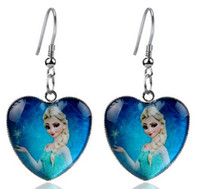Wholesale Hot Sale New Arrival Fashion Europe Children Girls Cartoon Peach Heart Children Earrings Jewelry Charm pairs E0490