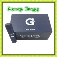 Wholesale Snoop Dogg Micro G penWax Flat Body Shape Dry Herb Vaporizer Rechargeable Micro G battery Glass Containers quality guarantee
